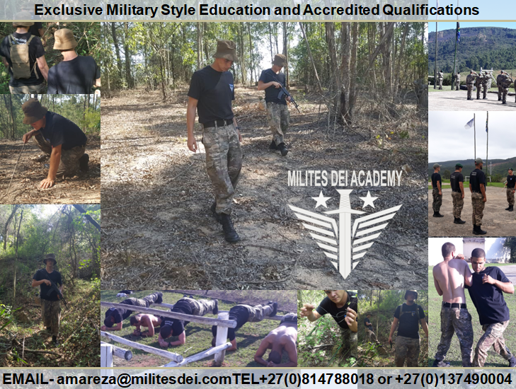 Exclusive Military Style Education and Accredited Qualifications